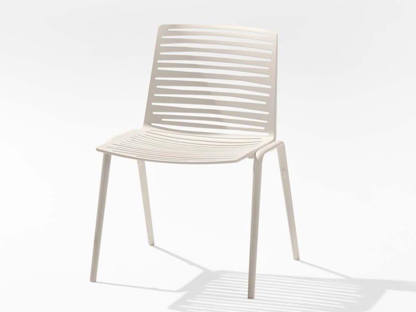 Aluminium garden chair ZEBRA | Garden chair by FAST