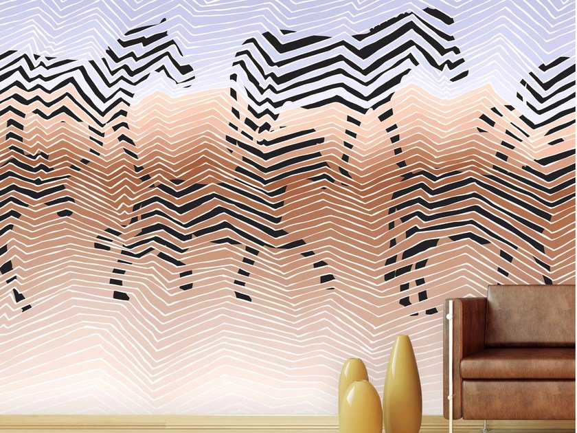 Graphic wallpaper, PVC free, eco, washable ZEBRAS by Wallpepper