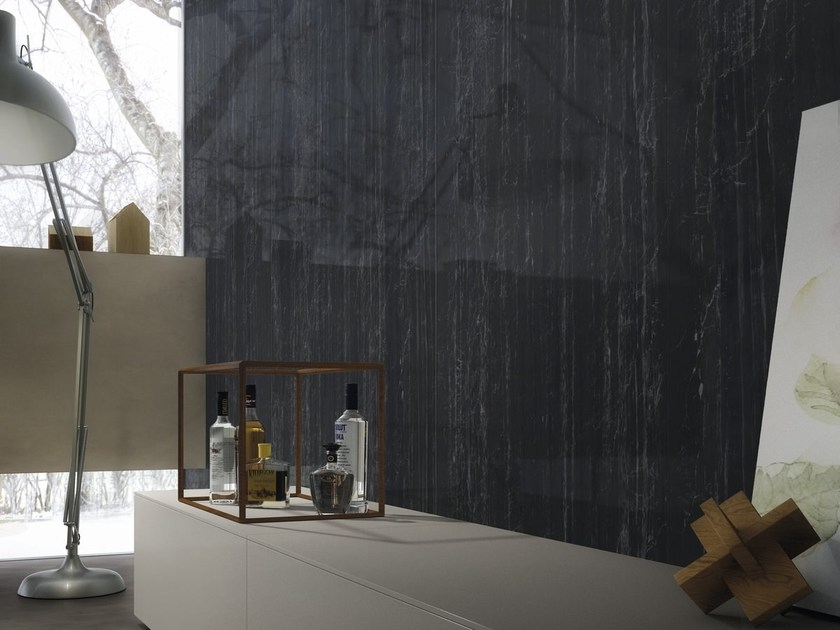Pavimento/rivestimento effetto marmo ULTRA MARMI - ZEBRINO BLACK by ARIOSTEA