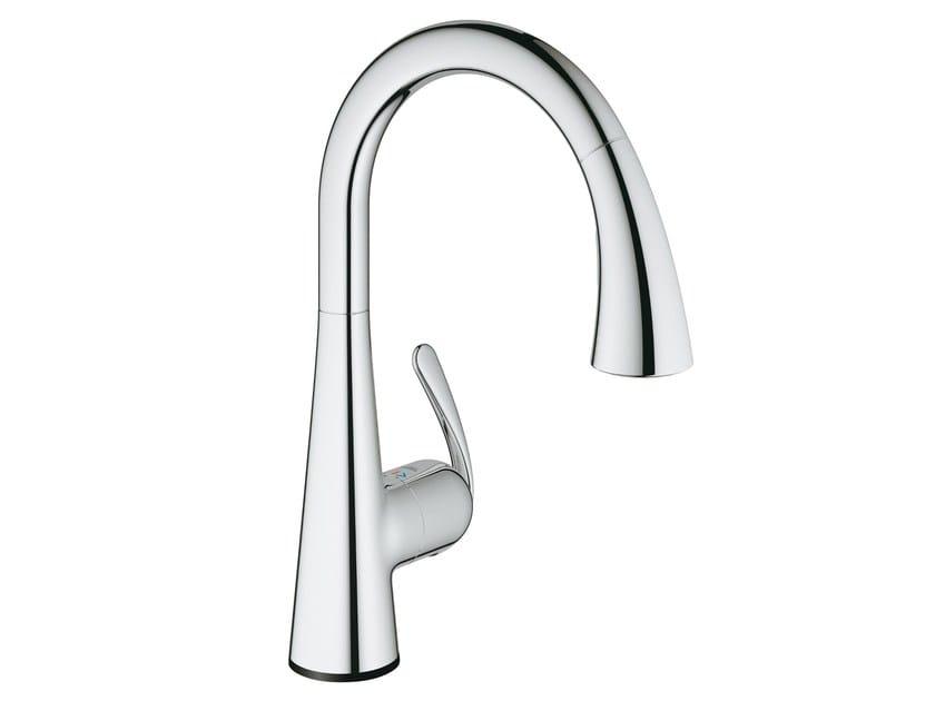 Electronic single handle kitchen mixer tap ZEDRA TOUCH | Electronic kitchen mixer tap by Grohe
