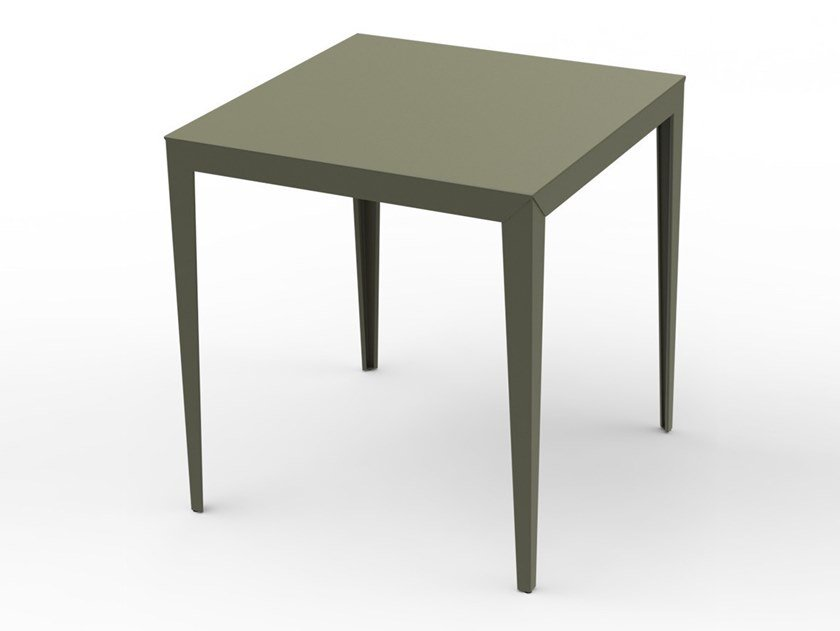 Square powder coated aluminium high table ZEF | Garden table by Matière Grise