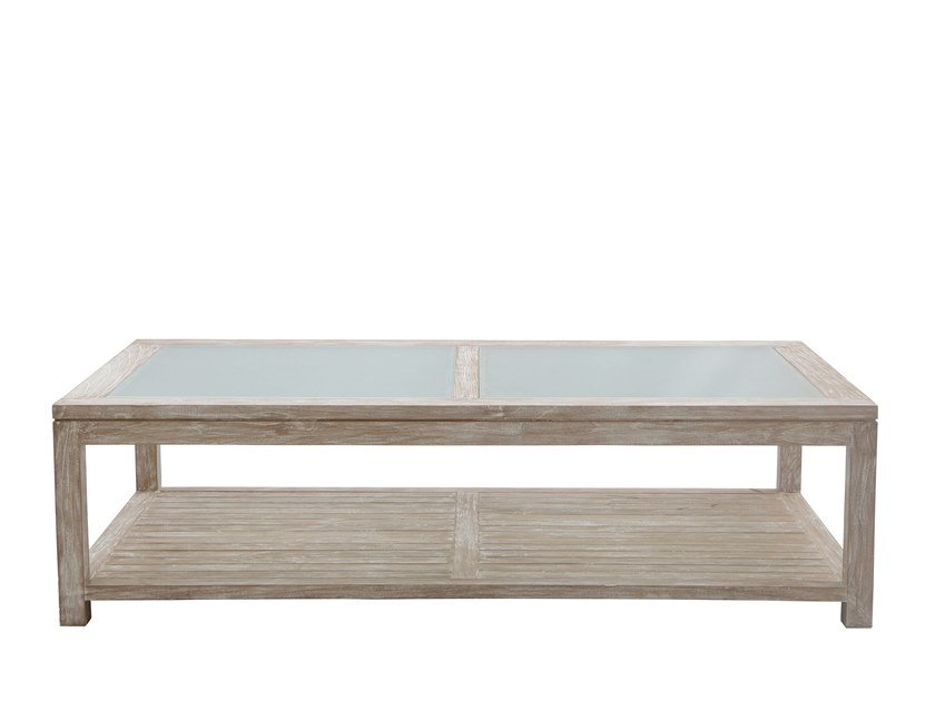Rectangular coffee table with storage space ZEFIRO | Rectangular coffee table by Il Giardino di Legno