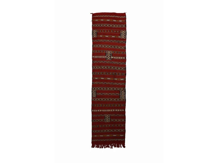 Patterned rectangular cotton rug ZEMMOR TAA953BE by AFOLKI