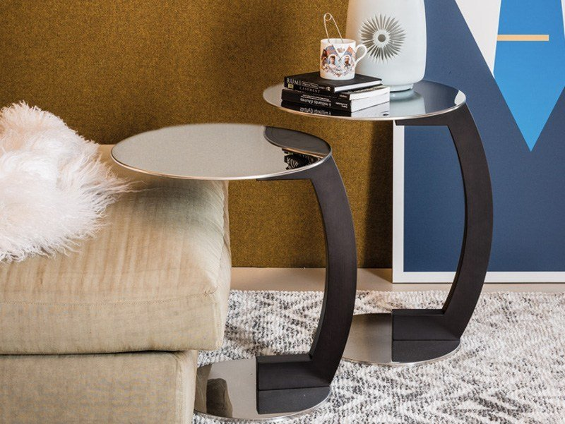 Round stainless steel coffee table ZEN by Cattelan Italia