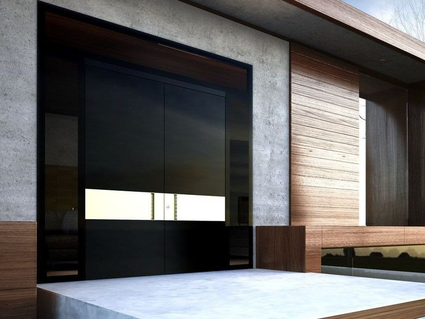 Glass pivot entry door ZEN GLASS by Interno Doors