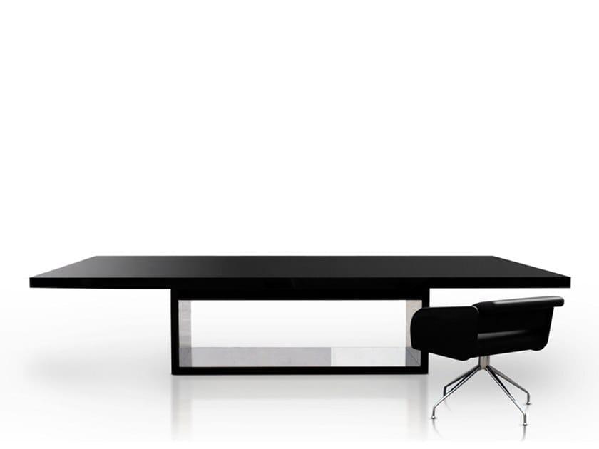 Rectangular wooden meeting table ZEN MEETING by Jose Martinez Medina