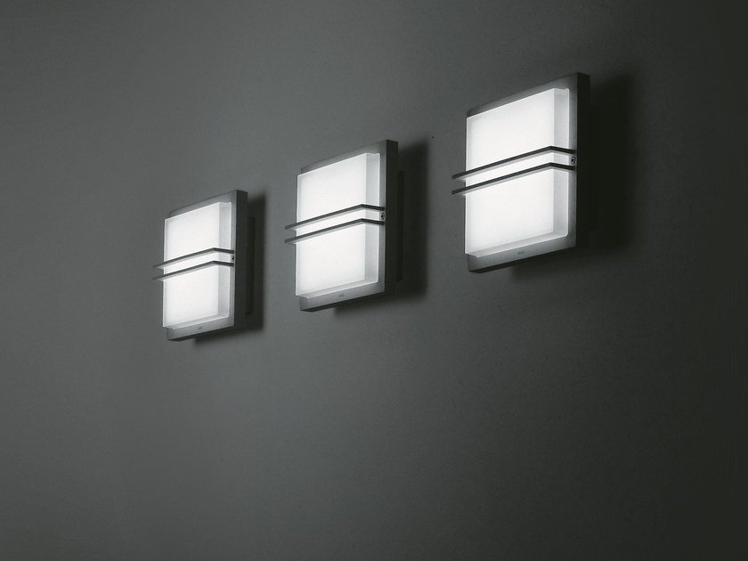 Charming LED Sandblasted Glass Outdoor Wall Lamp ZEN By SIMES Nice Design