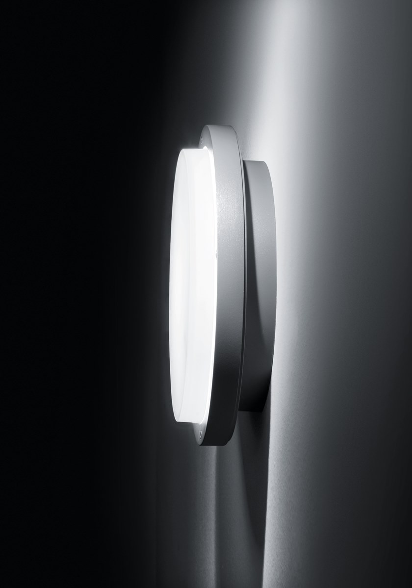 LED Sandblasted Glass Outdoor Wall Lamp ZEN By SIMES