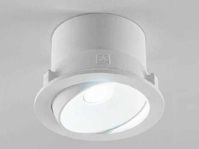 Adjustable ceiling spotlight ZENIT 1/G by Aldo Bernardi