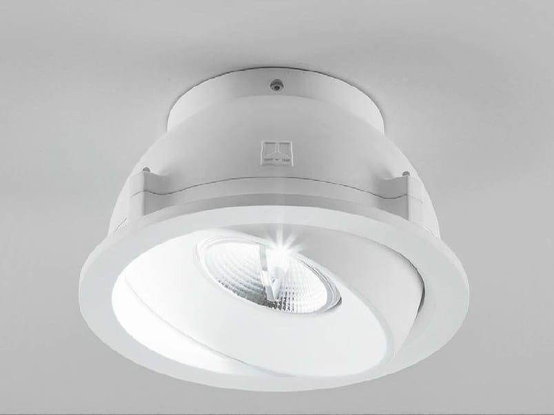Adjustable ceiling spotlight ZENIT 3/G by Aldo Bernardi