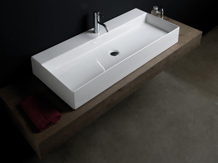 Countertop rectangular washbasin ZENITH by GSG Ceramic Design
