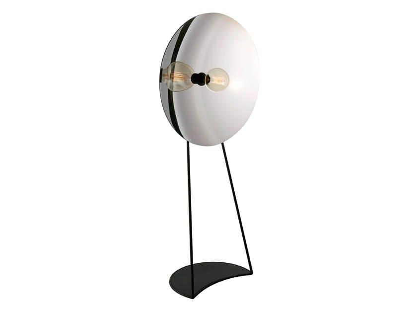 Handmade Thermoformed glass floor lamp with dimmer ZENITH | Floor lamp by RADAR INTERIOR