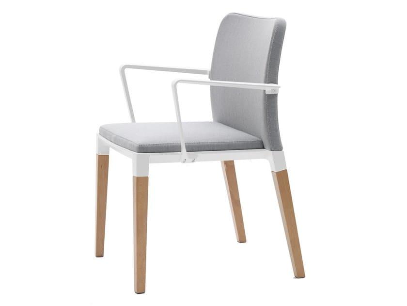 Zenith sedia con braccioli collezione zenith by segis design