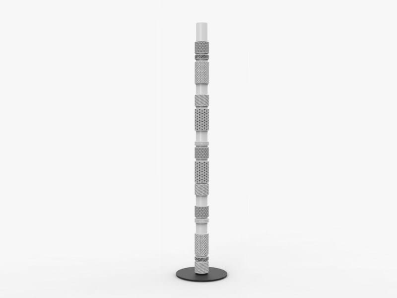 LED quarry floor lamp ZENOBIA TERRA by Made a Mano