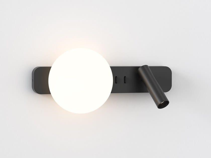 Lampada da lettura a LED a luce diretta e indiretta in alluminio in stile moderno con braccio fisso ZEPPO READER by Astro Lighting