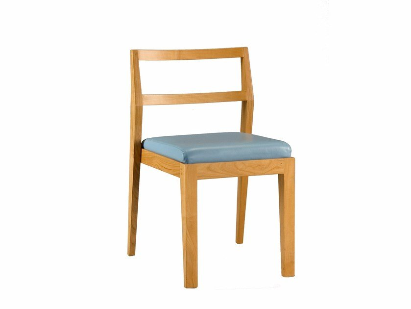 Stackable cherry wood chair ZERO | Chair by Morelato