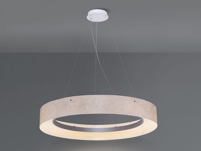 LED direct light glass-fibre pendant lamp with dimmer ZERO1 by Quadrifoglio