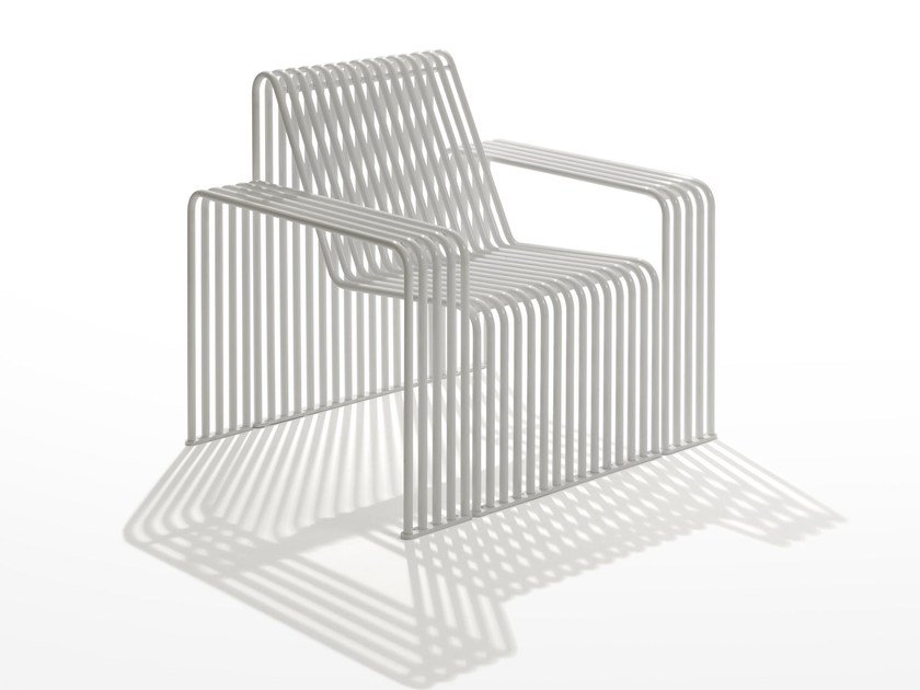 Galvanized steel garden armchair / outdoor chair ZEROQUINDICI.015 | Garden armchair by Diemmebi