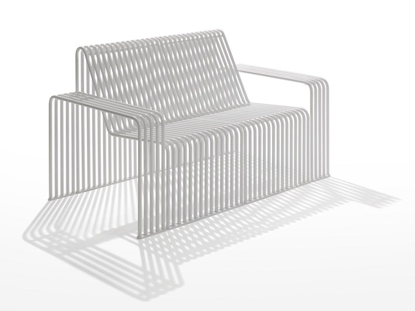 Modular galvanized steel sofa ZEROQUINDICI.015   Modular sofa by Diemmebi