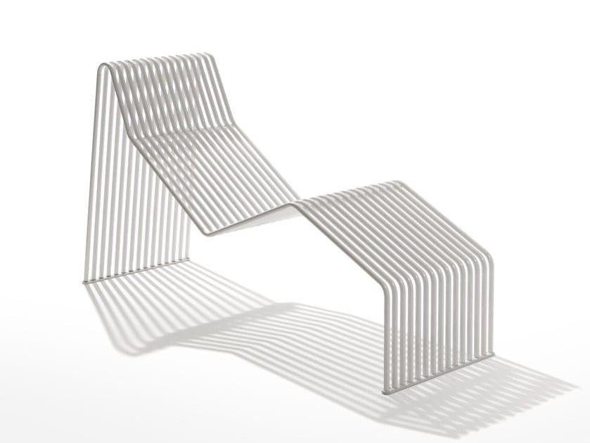 Galvanized steel lounge chair ZEROQUINDICI.015 | Steel lounge chair by Diemmebi