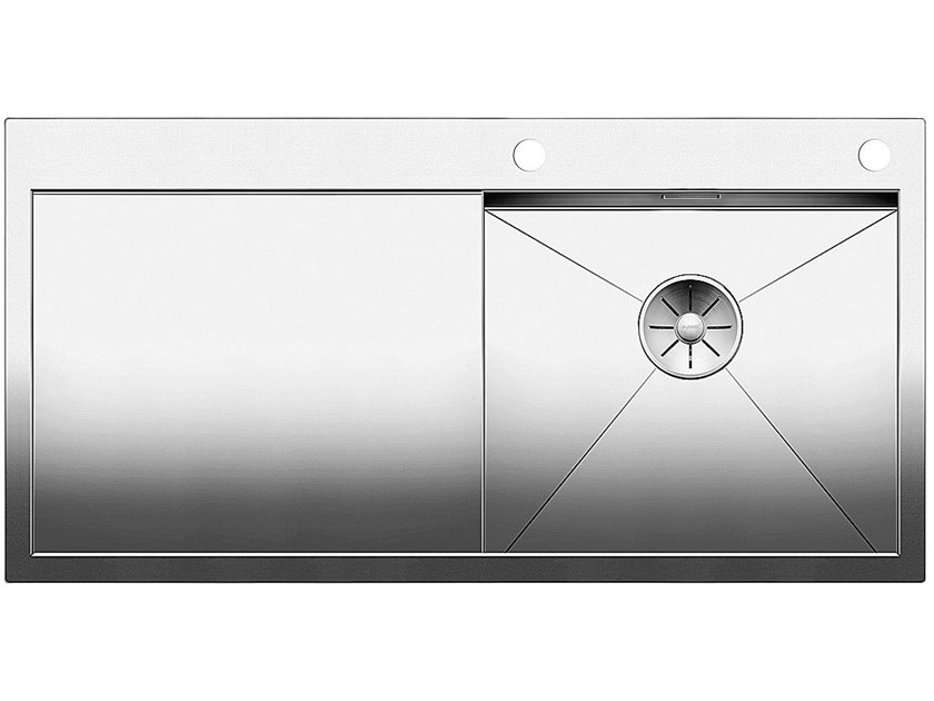 Single flush-mounted stainless steel sink with drainer BLANCO ZEROX 5 S-IF by Blanco