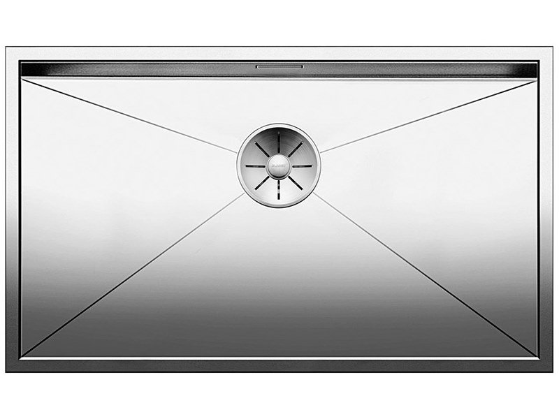 Single built-in stainless steel sink ZEROX 550 IF by Blanco