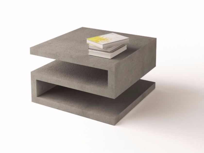 Square coffee table for living room ZETA by ARKOF LABODESIGN