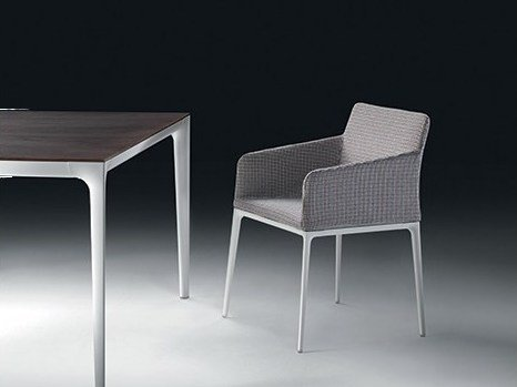 Chair with removable cover with armrests ZETEL | Chair with armrests by Marac