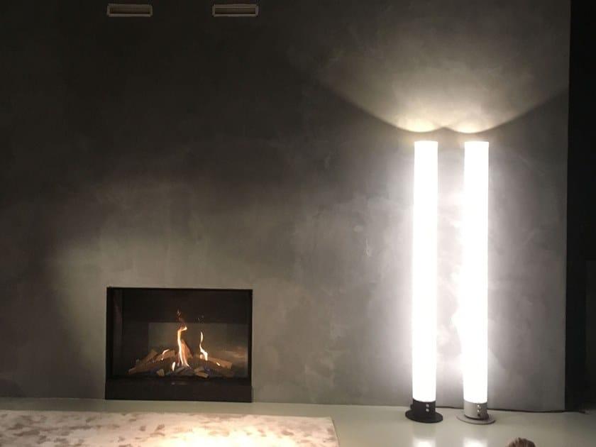 Direct-indirect light plastic floor lamp ZEUS by FERROLIGHT DESIGN