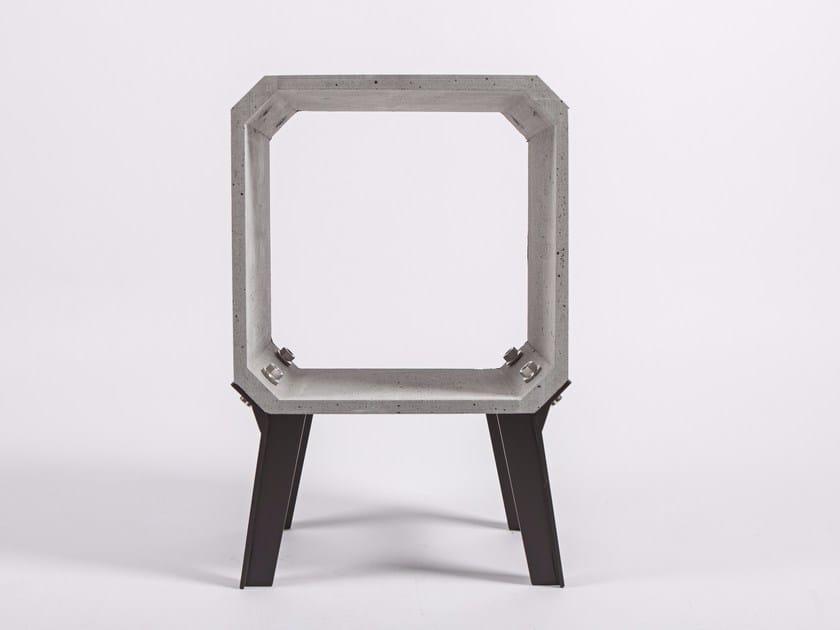 Concrete side table ZHI by Bentu Design