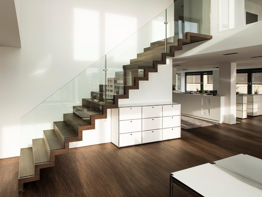 Straight Wooden Open Staircase Zig Zag Straight By Siller Treppen