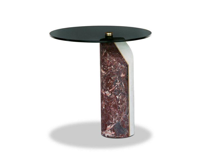 Round marble coffee table ZIGGY by BAXTER
