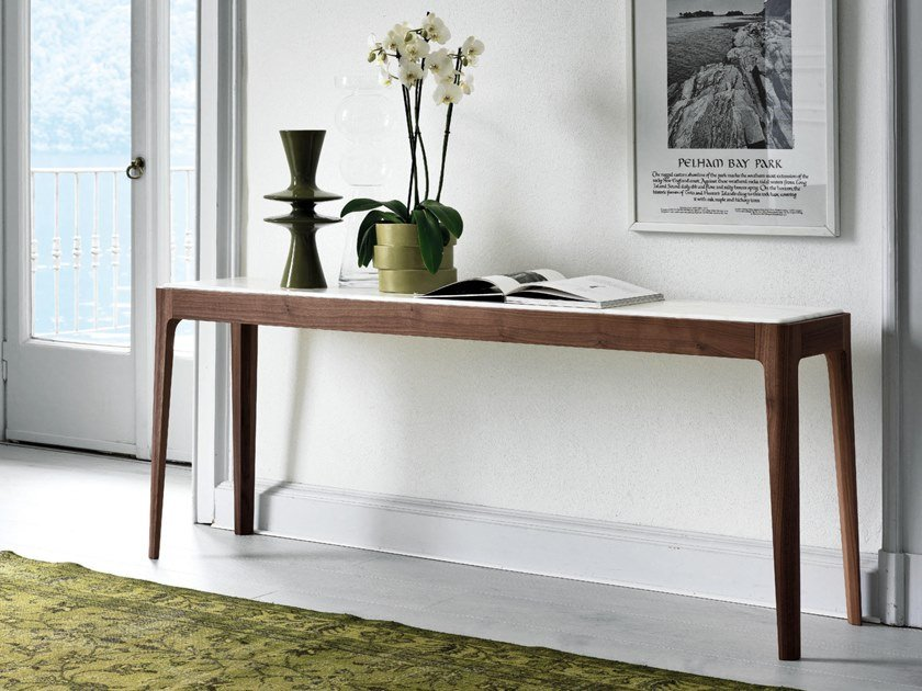 Rectangular wooden console table ZIGGY | Console table by Porada