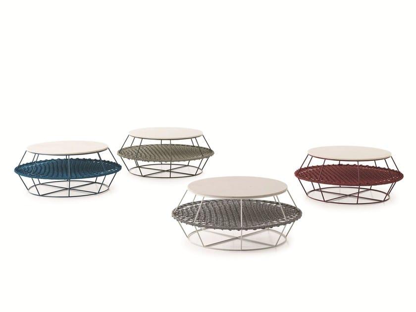 Low garden side table ZIGGY XL by Saba Italia