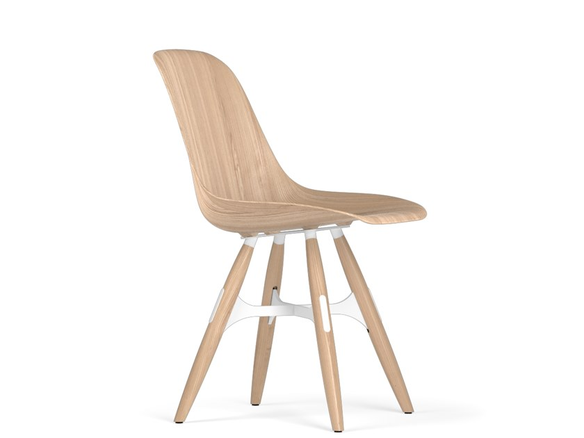 Wooden chair ZIGZAG W9 by KUBIKOFF