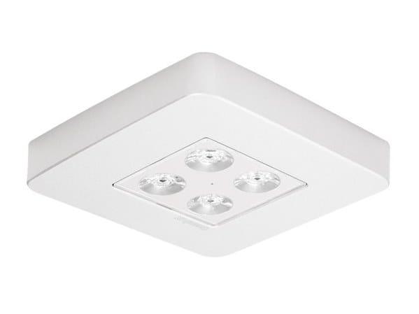 Ceiling-mounted aluminium emergency light ZINER by DAISALUX