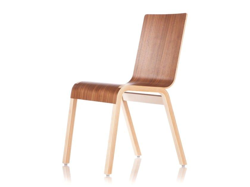 Stackable wooden chair ZIPPER | Chair by RIGA CHAIR