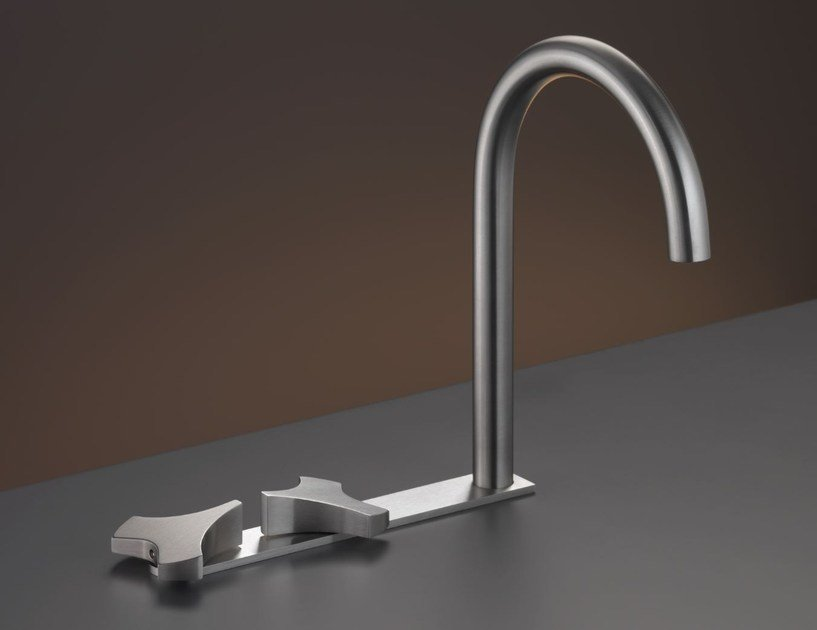 3 hole washbasin tap with swivelling spout ZIQ 10 by Ceadesign