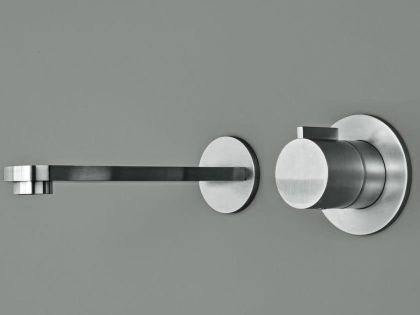 2 hole wall-mounted washbasin tap ZIRMA | Wall-mounted washbasin tap by Signorini