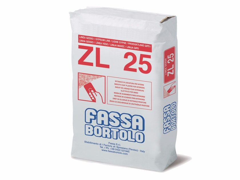 Hydraulic and hydrated lime based plaster ZL 25 by FASSA