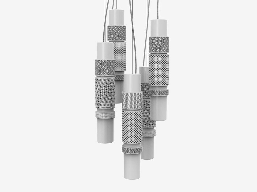 LED quarry pendant lamp ZOE 5 by Made a Mano