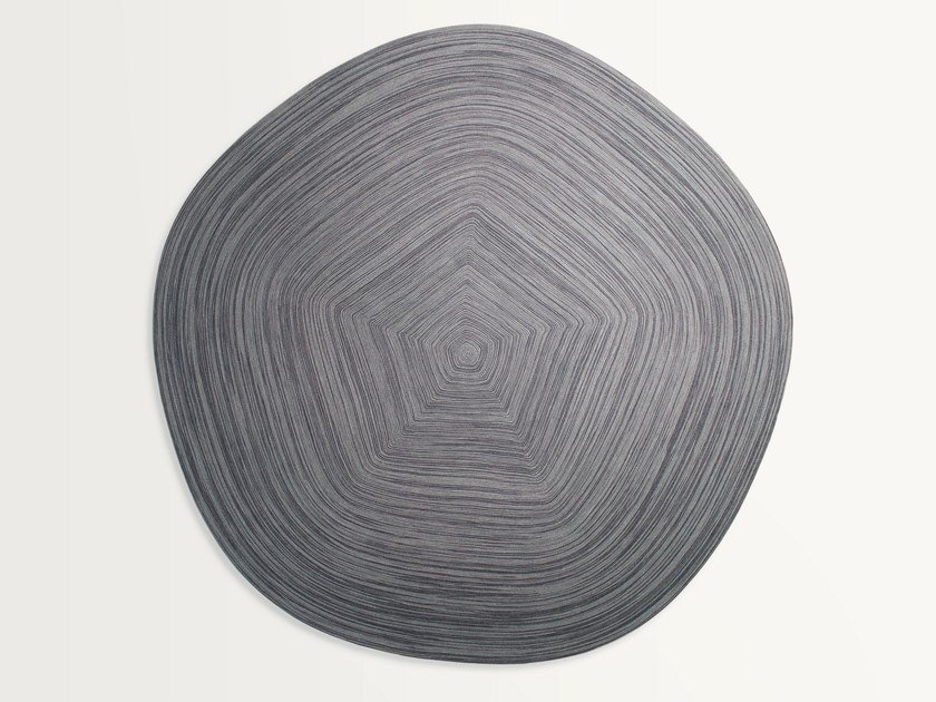 Solid-color rope rug ZOE by paola lenti