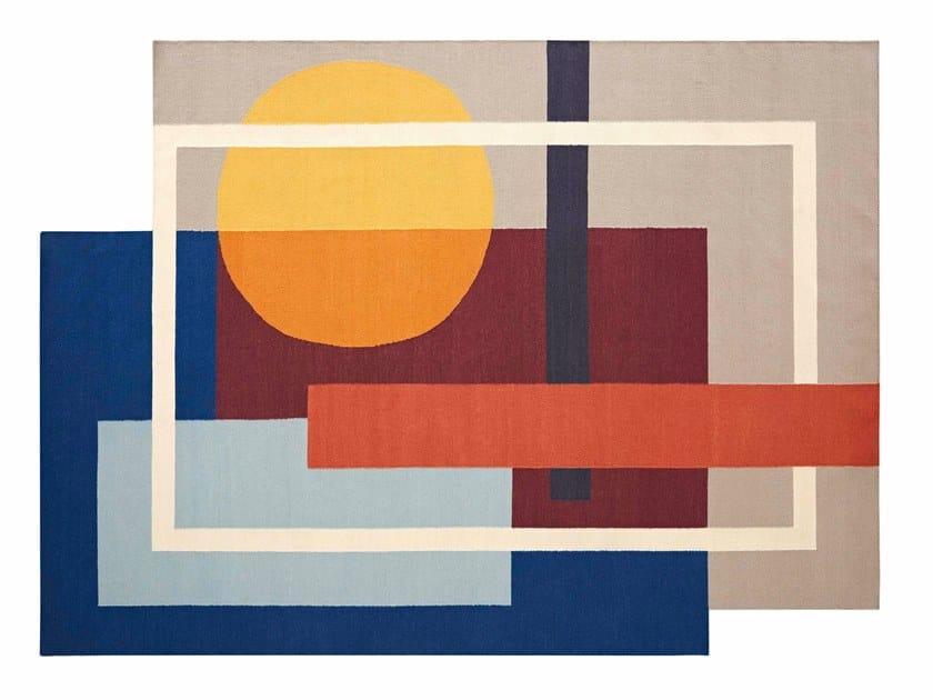 Handmade wool rug with geometric shapes ZOE SOOL by GAN