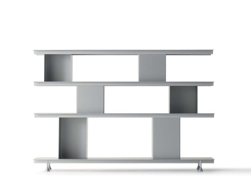 Open modular Anodized aluminium bookcase ZOLL D by Nils Holger Moormann