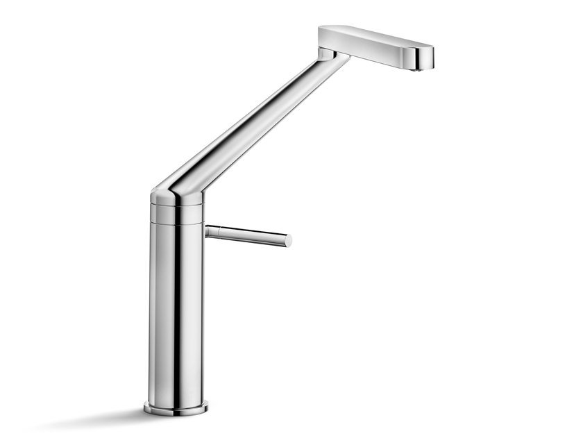 Chrome-plated kitchen mixer tap with swivel spout ZOOM | Kitchen mixer tap by Nobili Rubinetterie