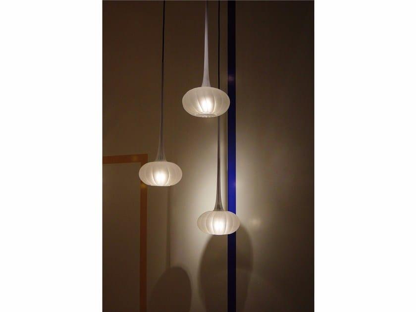 Lampade In Vetro Soffiato : Lampada a sospensione in vetro soffiato zucca by melogranoblu