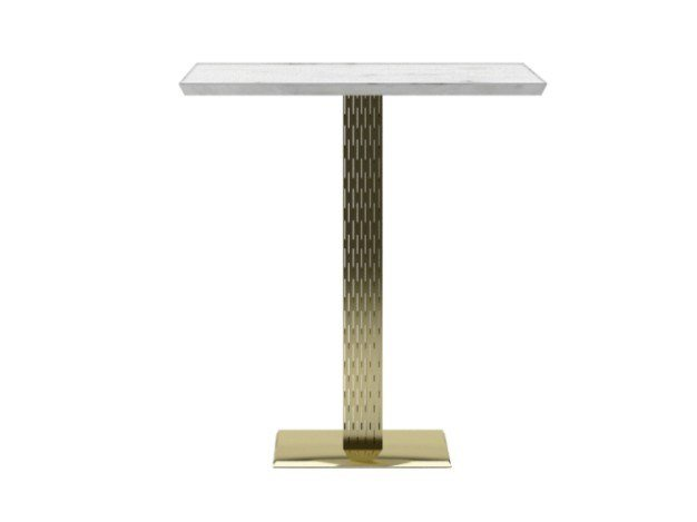 Square steel and marble table ZULU | Table by ZALABA Design
