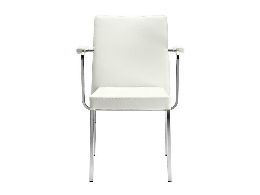 Stackable chair with armrests Zelda 091 by Metalmobil