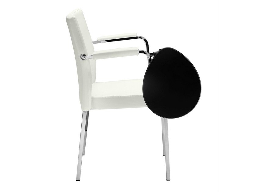 Fabric chair with armrests Zelda 091-T by Metalmobil