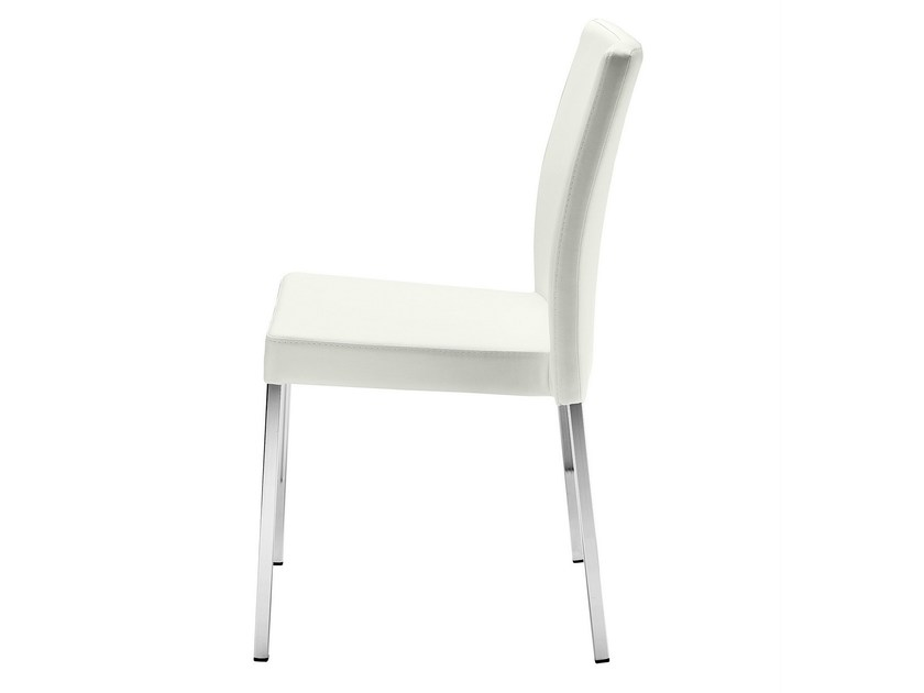 Upholstered stackable chair Zelda 093 by Metalmobil